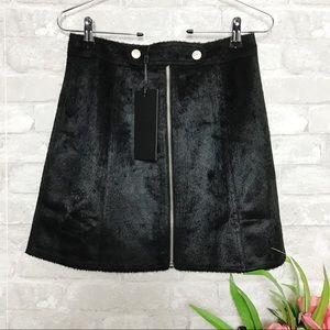 Goldie | 🆕 Black Faux Pony Skin Skirt Size XS